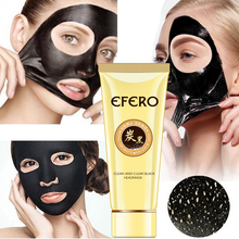 efero Black Mud Mask for Face Nose Care Remove Blackhead Moisturizing Skin Acne Treatment Peel Off