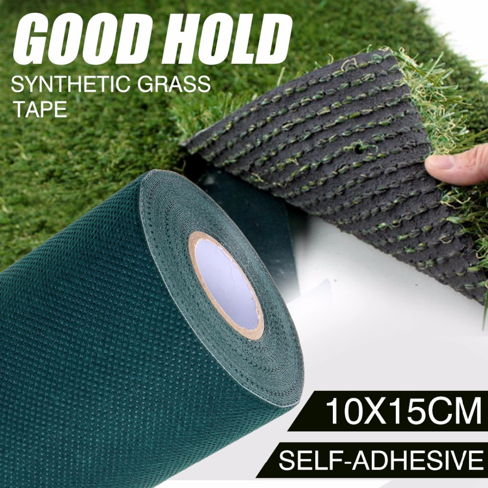 цена 10mx15cm Turf Tape Artificial Synthetic Grass Self Adhesive Tape Lawn Carpet Tape 2 colors