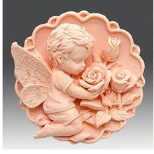 Форма ангела, форма для мыла для купания, круглая силиконовая форма с розами, безопасная для пищевых продуктов, инструмент для изготовления мыла, ручная работа, форма для мыла