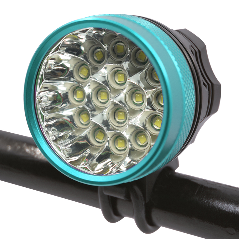 Wasafire 16x XM-L T6 LED 40000 Lumens Bicycle Front Light Cycling Led Bike Headlight Rechargeable Bike Light Bicycle Accessories