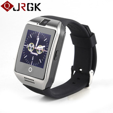 Q18 Bluetooth Smartwatch 450mah 1.3MP Camera Smart Watch Phone Support SIM TF Card Handsfree Call For iOS Android PK DZ09 GT08