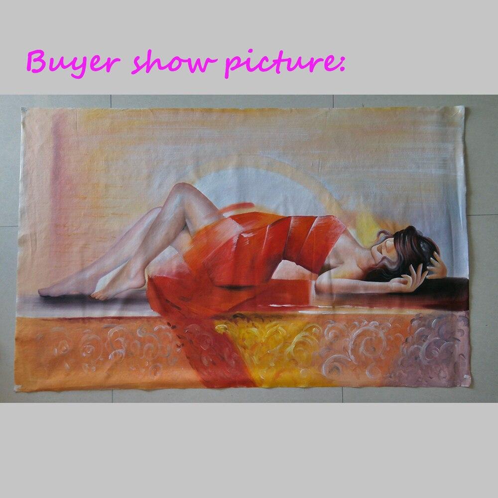 Toile à la main Art mural Sexy fille moderne peinture à l'huile sur toile amour pour salon photos décoration de la maison