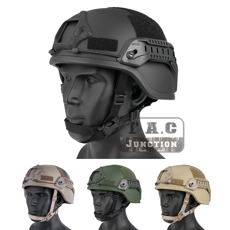 Emerson Tactical ACH ARC MICH 2000 TC 2000 Helmet Advanced EmersonGear Head Protective with NVG Shroud