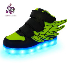 STRONGSHEN New USB Charging Led Children Shoes With Light Up