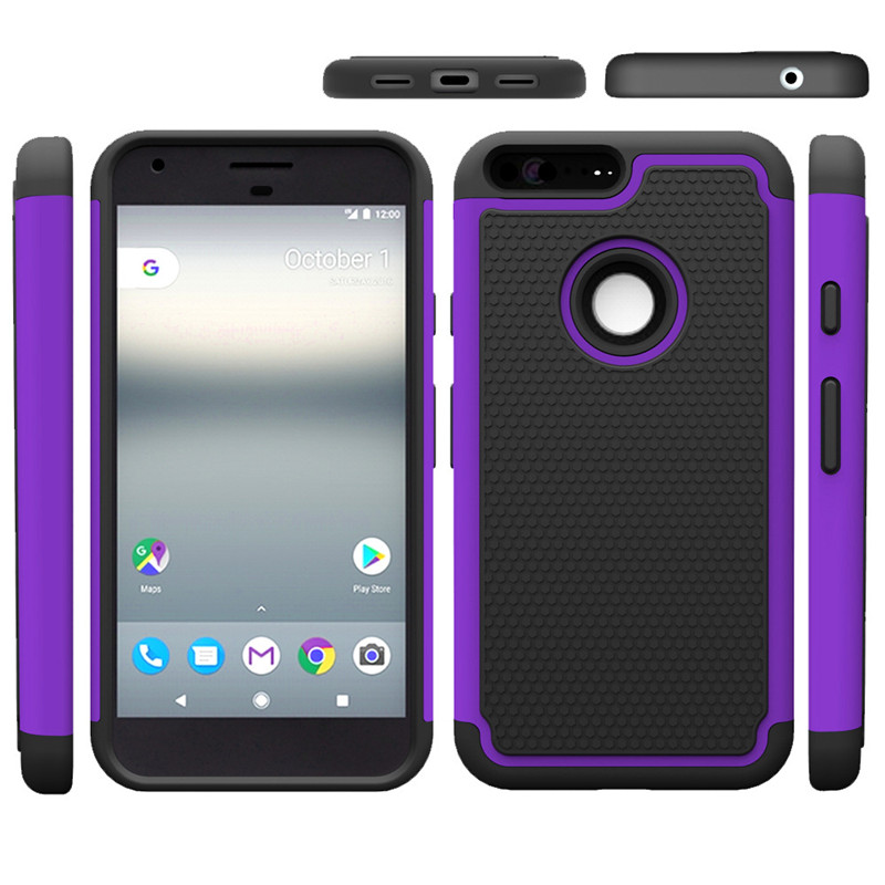 Wholesale 3In1 PC+Silicon Football Pattern Case For Google Pixel For Google Pixel XL Protective Shell Skin Back Case