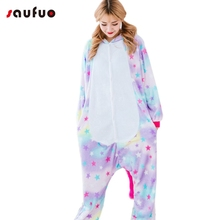 Saufuo Rainbow and Star Unicorn Pajamas Panda Bear Koala Onesie Adult Unisex  Sleepwear For Men Women