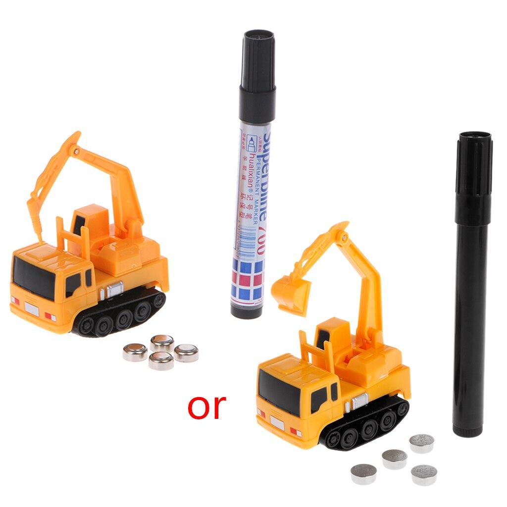 1 Pcs Kinder Chirldren Magie Spielzeug Lkw Induktive Auto Magia Bagger Tank Bau Auto Lkw Spielzeug Für Kinder Geschenk Gute WäRmeerhaltung