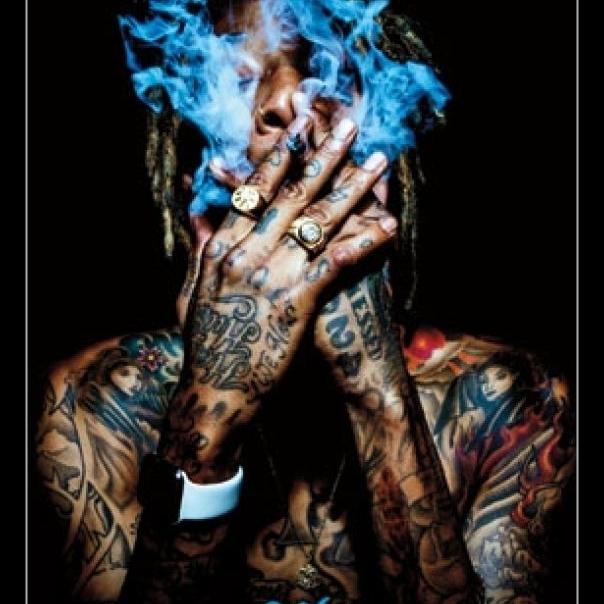 Wiz Khalifa – Smoke Laminated & Framed Poster Print (22 x 34)
