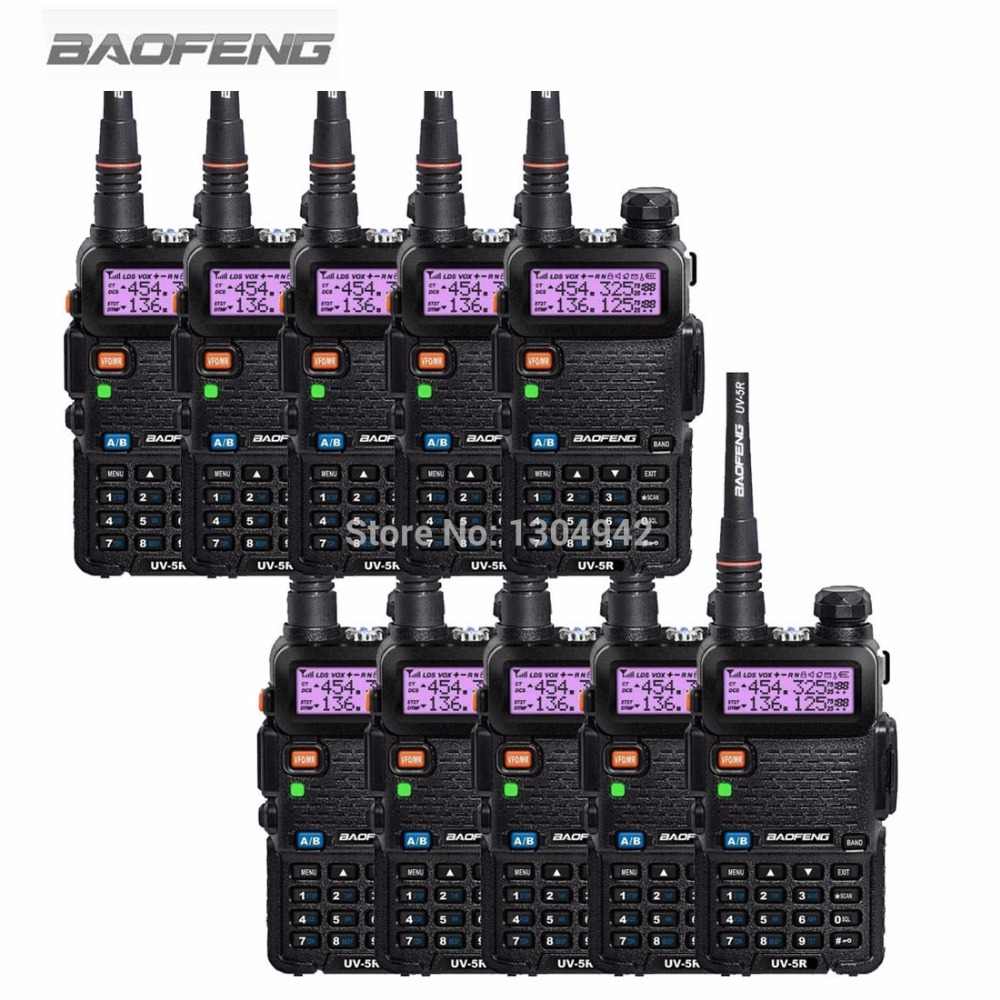 10 PCS BAOFENG UV-5R Radio Dua Arah Hitam Ham Amatir Walkie Talkie - Walkie talkie