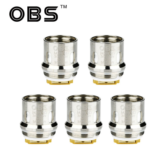 US $15 5 |Original 5pcs OBS Damo Replacement Coil with M2 0 4ohm Coil & M6  0 2ohm Coil for Damo Subohm Tank OBS Damo E cig Vape Vaporizer-in Eletronic