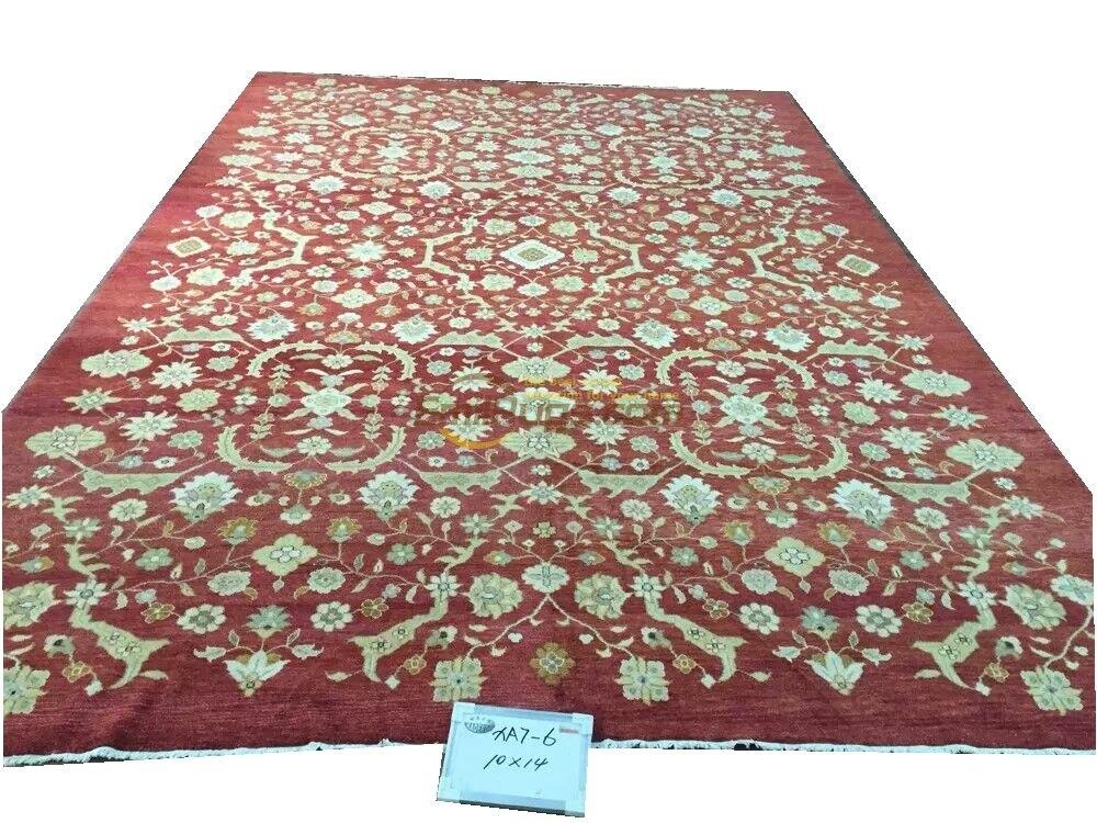Tapis Serapi tissé à la main Antique décor plancher pour chambre Style ethnique la plante conception laine tapis à tricoter