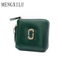 MENGXILU Vintage Women Wallet Fashion Small Tassel Female Purse Ladies Snap Fastener Letter Zipper Short Clutch