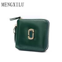 MENGXILU Vintage Women Wallet Fashion Small Tassel Female Purse Ladies Snap Fastener Letter Zipper Short Clutch
