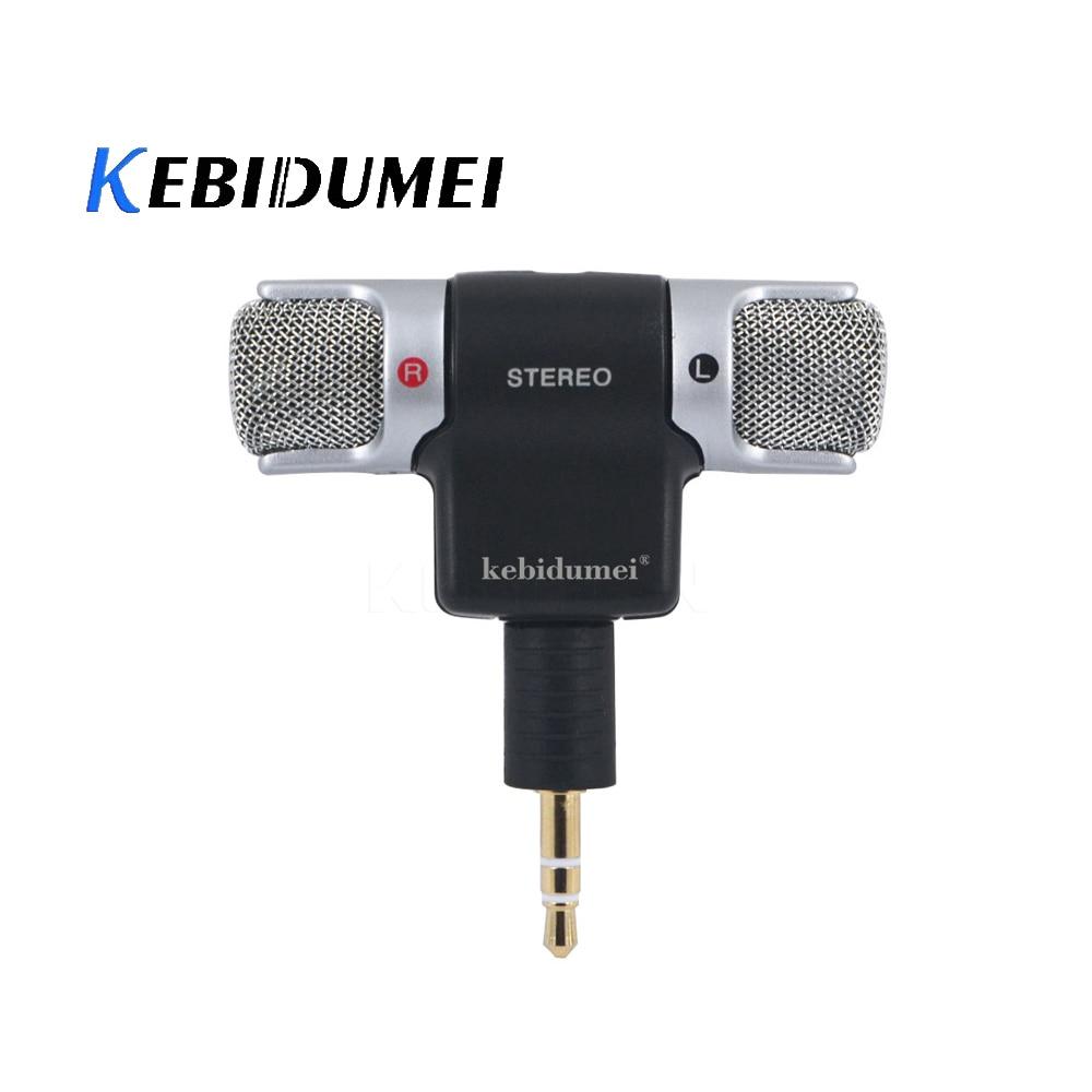 Универсальный мини-микрофон kebidumei, цифровой стерео микрофон с разъемом 3,5 мм для рекордера