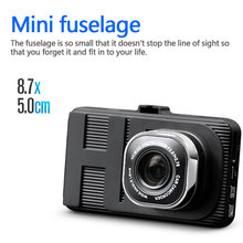 Big discount 3″  HD Screen Car Parking Monitoring Cycle Recorder Dual 1080p G-sensor Night Vision Video 140 Angle CAR DVR Dash Cam Camera