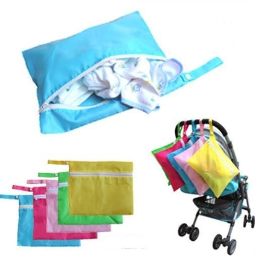 Waterproof Baby Dirty Clothes Diaper Nappy Bag Stroller Pram Buggy Zipper Organizer Storage Bag Stroller Accessories Hanging Bag