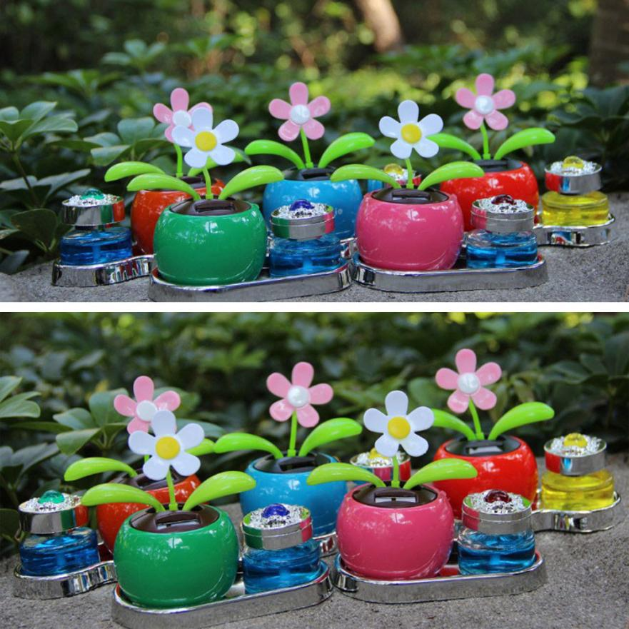 Solar Powered Dancing Flower Swinging Animated Dancer Toy Car Decoration New Sep 5