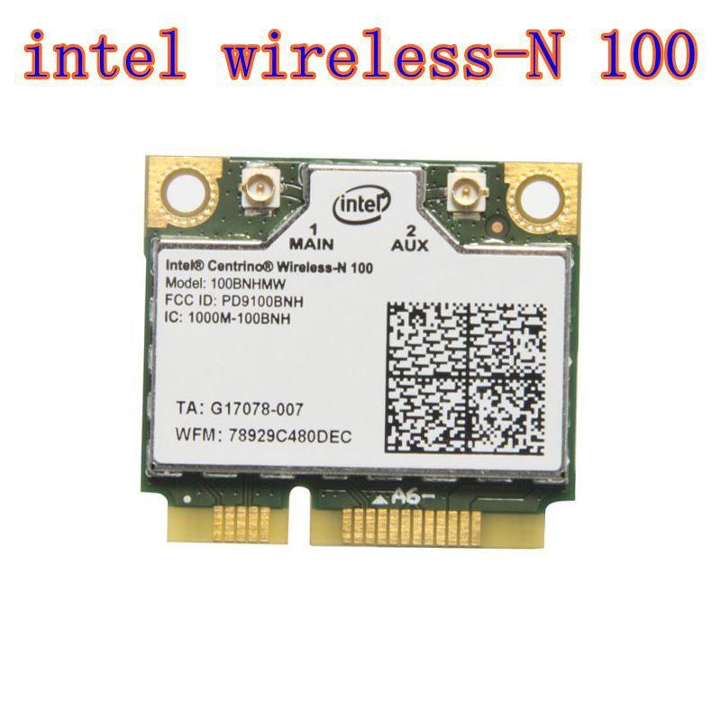 100bnhmw - Intel Centrino  Wireless-N 100 100BNHMW 802.11b/g/n 150 Mbps PCIe Half Mini Wireless Card
