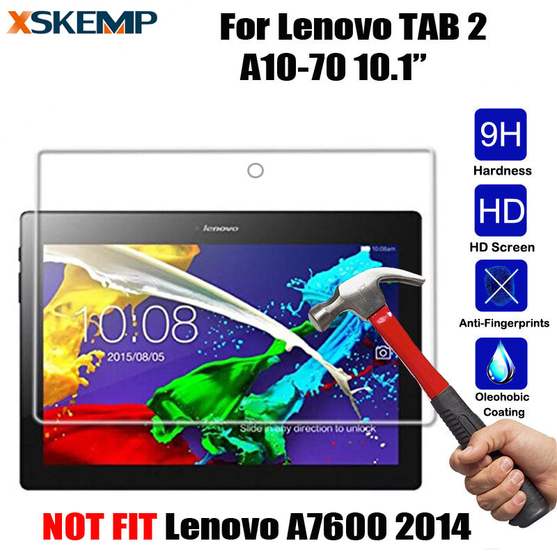 XSKEMP Ultra Clear Tempered Glass For Lenovo Tab 2 10.1 (A10-70F A10-70LC 2016) Screen Protector Explosion Proof Protective Film