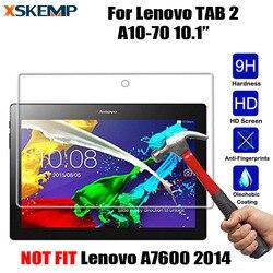 XSKEMP ultra przejrzysty szkło hartowane dla Lenovo Tab 2 10.1 (A10-70F A10-70LC 2016) folia ochronna folia ochronna odporna na wybuchy