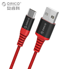 ORICO Scharge Type-C to USB-A Cable 1m/3ft Charging Cord Black/Red USB-C Sync Cable for Smart Phone Tablet Kevlar Material