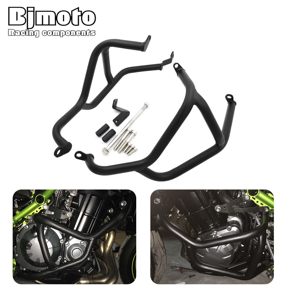 Motocross Engine Frame Crash Bars Guard Protector Crashbars For Kawasaki Z900 2017 Motorcycle Z 900 Racing Protective motorcycle cnc engine protective pad cover falling protector sliders guard for kawasaki z900 2017 2018 z 900 17 moto accessory
