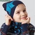Nueva primavera sombrero del bebé de algodón de otoño niñas sombreros bebé gorra para niños los niños recién nacidos sombrero de ganchillo Collar bufanda Beanie gorro de bebé