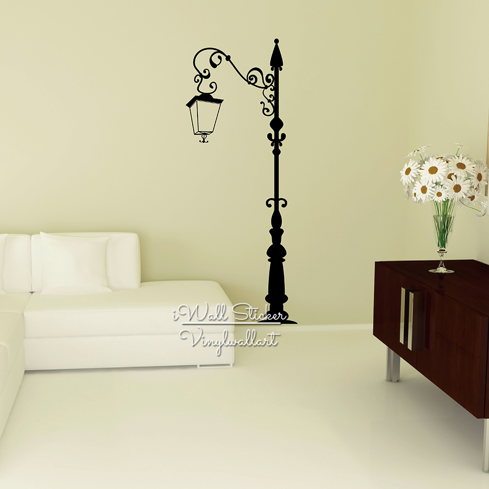 Street Lamp Wall Sticker Lamp Modern Wall Decal DIY Creative Home ...