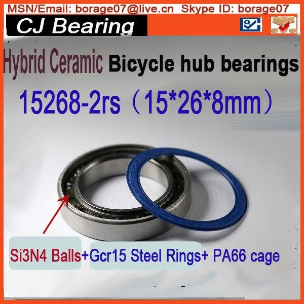 1piece 15268-2rs hybrid si3n4 ceramic wheel hub bearing mr15268 2rs   Halo 6-Drive MR15268-2rs 15268 2rs 15*26*8mm sc6001 2rs 12x28x8 mm s6001 2rs s6001 2rs sc6001 2rs hybrid ceramic bearing mavic novatec wheel hub bearing upgraded version