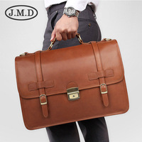 Men's Briefcase Genuine Leather Business Travel 14 Laptop Big Bags Man Briefcases Cow Leather Vintage Crossbody Hand Bag Male