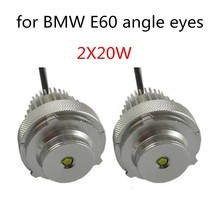 High power LED angel eyes bulb 10WX2 LED marker for BMW E60 white light 2 pieces best selling lamp