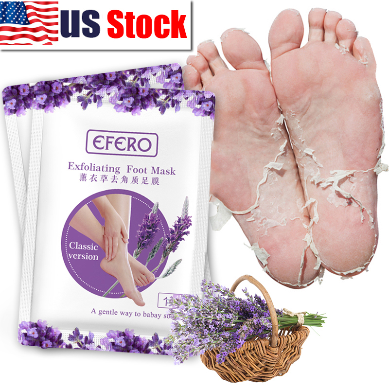 Efero 5pair=10pcs Foot Peeling Mask Foot Mask For Legs Pedicure Socks Lavender Extract Remove Dead Skin Foot Peel Feet Mask