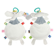 Baby Soothing Towel Animal Soft Rattle