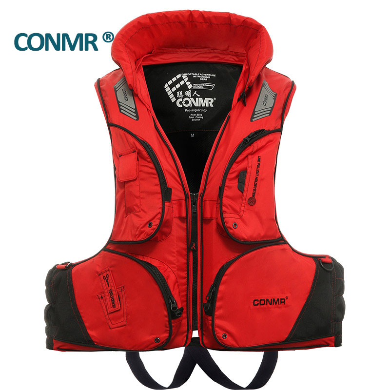 CONMR QF 1914 Famous brand Fishing vest life vest jacket  for adult men outdoor skiing hunting hiking Upstream Surfing 50 neoprene surfing floating life vest rafting snorkeling pfd inflatable kids women men life jacket swimwear swimming jacket life