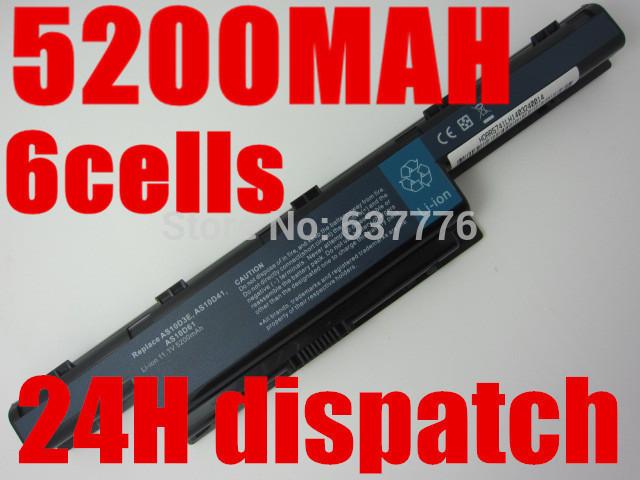 6 células de bateria forACER Aspire 4560 4738 4738ZG 4739 4741 AS10D41, AS10D51, AS10D61, AS10D71, AS10D73, AS10D75