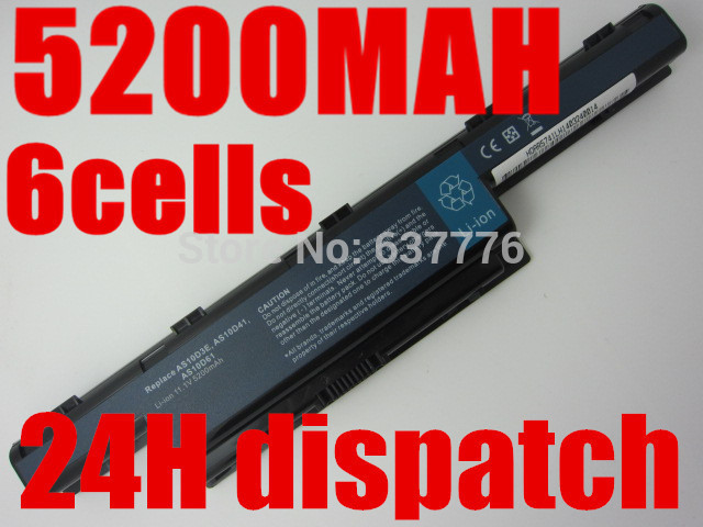 6 celdas de la batería forACER Aspire 4560 4738 4738ZG 4739 4741 AS10D41, AS10D51, AS10D61, AS10D71, AS10D73, AS10D75
