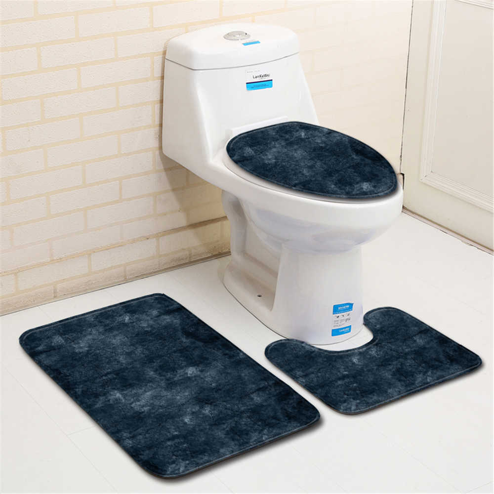 Nordic Toilet Bath Mat Carpet Rug Sets Bathroom Shower Room Carpets Flannel Anti Slip 3 Pieces Bath Mat Sets Bath Mats Aliexpress