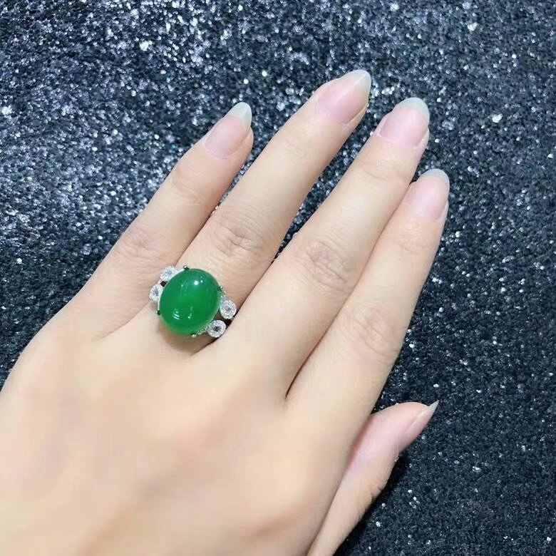 SHILOVEM 925 כסף טבעי ירוק כדכוד טבעות קלאסי סיטונאי פתוח טבעת בסדר נשים מתנת מסיבת 2018 חדש bj121401agys