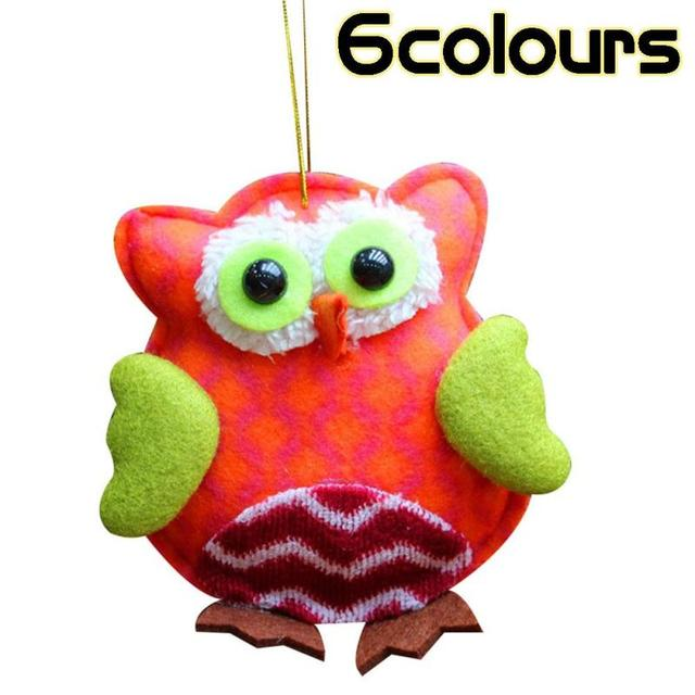 1pc cute owl christmas decorations for home 6 colors xmas exquisite tree ornaments owls christmas pendants