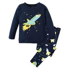 Pretty Airplane Printed Soft Cotton Baby Boy's Pajamas