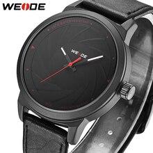 2018 лучший бренд класса люкс WEIDE Мода повседневное человек для мужчин s часы Спорт Кожа Бизнес Кварцевые часы для мужчин наручные Relogio Masculino