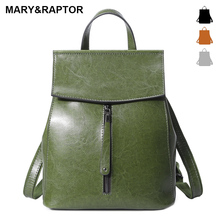Genuine Leather Women Vintage Backpack Burnished Cow Split Female Shoulder Bag Ladies Back Pack Travel Bags For Teenage Girls