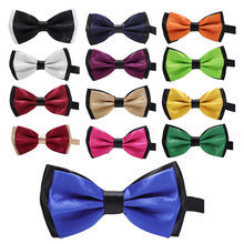 Boys bow tie butterfly polyester baby bow tie kids neck ties necktie Wedding Bow Tie pinstriped bow tie detail top