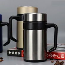 Stainless Steel Vacuum Flask Business Men's Office Water Cup with Handle Filter Tea Cup 4 germany aaron flow cup viscometer stainless steel zahn 4 for printing