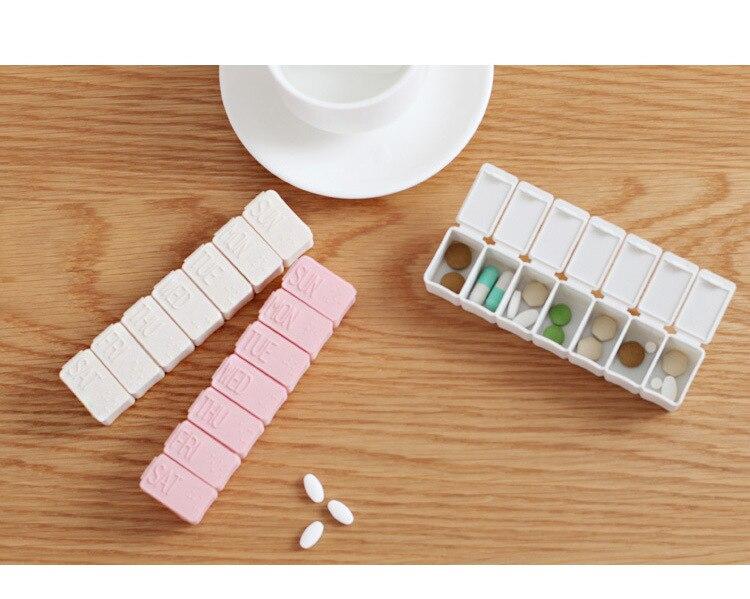 1 шт. Пластик Таблетки Медицина Box Планшеты делитель Дело 7 Отделения Открытый путешествия Pillbox хранения 7 день Стиль LF 223
