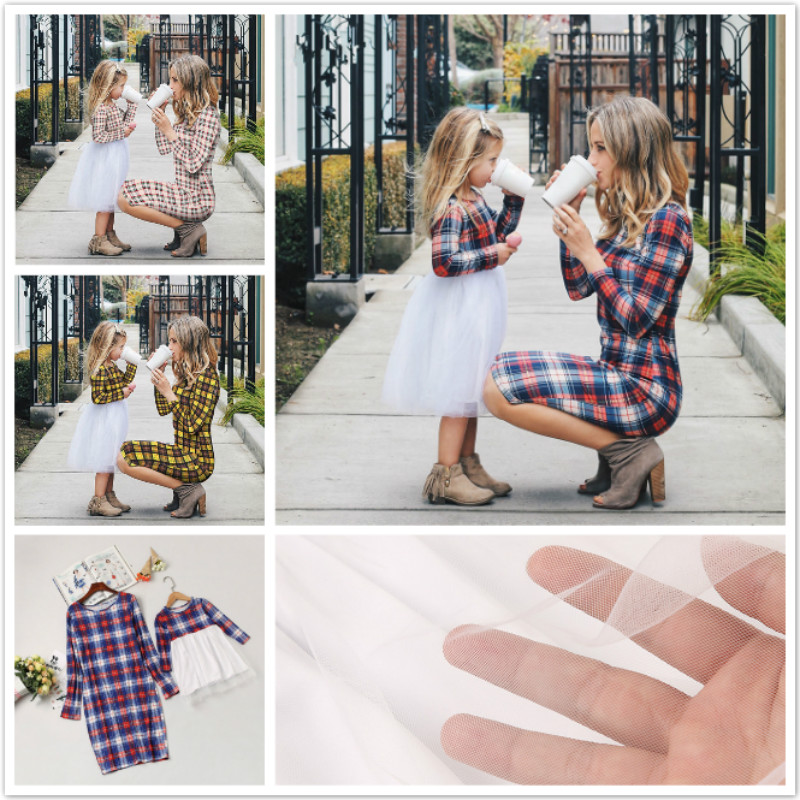2019 Autumn Mom And Daughter Dress Striped Mother Daughter Dresses Short Sleeve Children Clothes  Family Matching Clothes Outfit