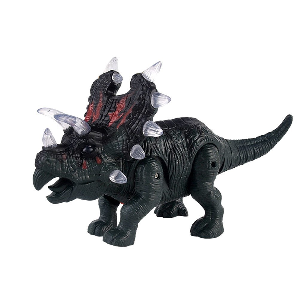ocday large dinosaur toy light sound walking simulation electronic triceratops dinosaur surprise toys gifts for children [ 1010 x 1010 Pixel ]