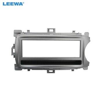 LEEWA voiture stéréo 1Din tableau de bord panneau Fascia cadre adaptateur pour Toyota Yaris (XP130) Face plaque cadre réaménagement kit d'outils pour habillage # CA4909