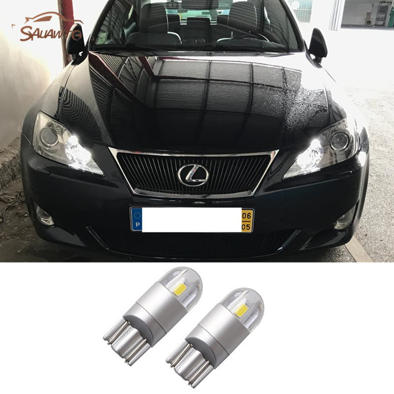 2x T10 W5w Car Led Parking Lights For Lexus Rx350 Rx300