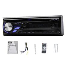 1 Din Car Autoradio In Dash Stereo Radio Automotive Vehicle SD/USB AM/FM Tuner Audio music CD DVD MP3 Player Detachable Panel